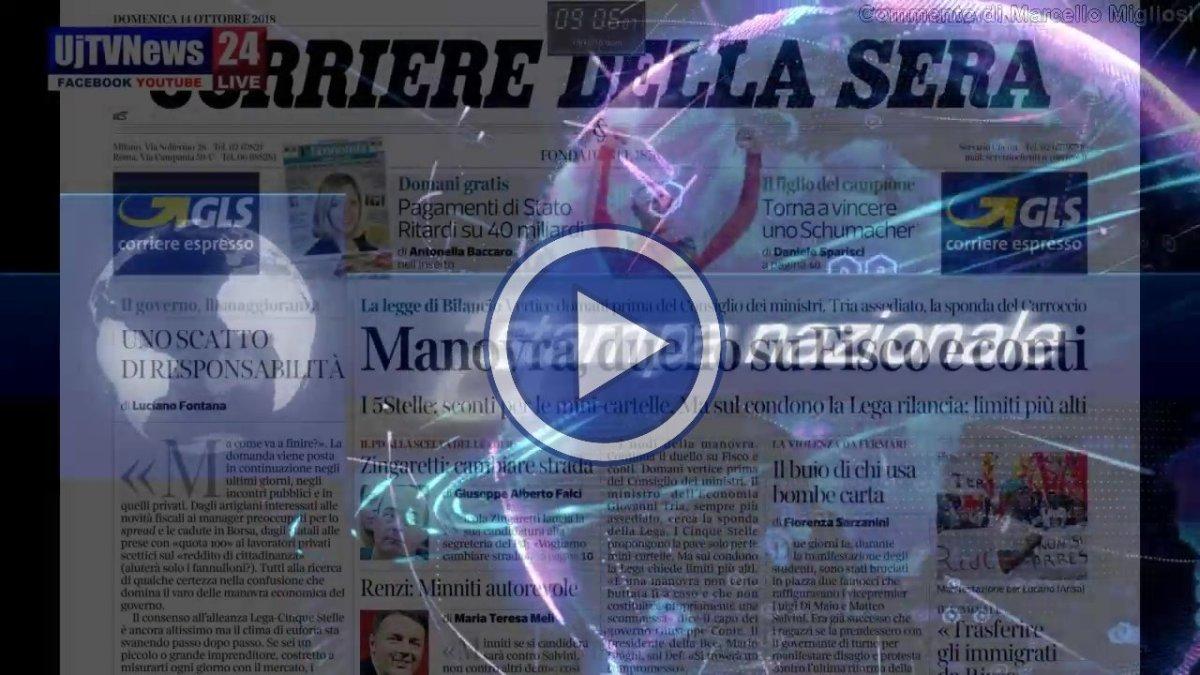 Video rassegna stampa nazionale del 14 ottobre 2018 domenica