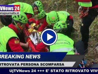 Franco Moscetti è stato ritrovato, è vivo, il video del recupero