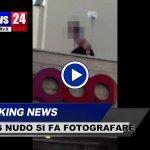 VIDEO Trans si spoglia e nudo si fa fotografare sul tetto a Fontivegge