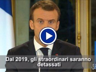 """Francia, Macron annuncia: """"Dal 2019 aumento dei salari minimi di 100 euro al mese"""""""