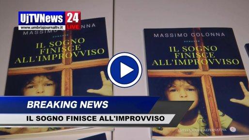 Il sogno finisce all'improvviso, il libro di Massimo Colonna a Perugia, video