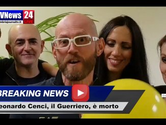 Il Guerriero Leonardo Cenci è morto, il brutale cancro ce lo ha portato via