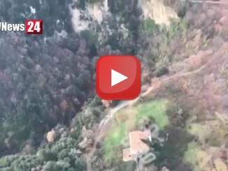Anche un elicottero, video delle ricerche Sasu dell'anziano a Narni