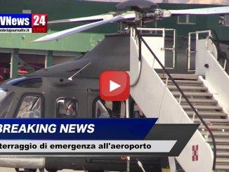 Atterraggio di emergenza per elicottero all'aeroporto di Perugia