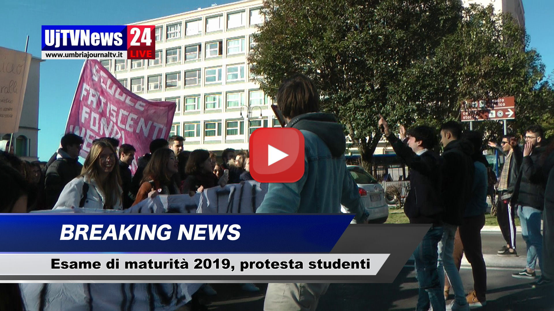 Esame di maturità 2019, corteo di protesta studentesco a Perugia, video