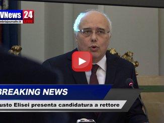 Fausto Elisei presenta la sua candidatura a rettore dell'Università di Perugia