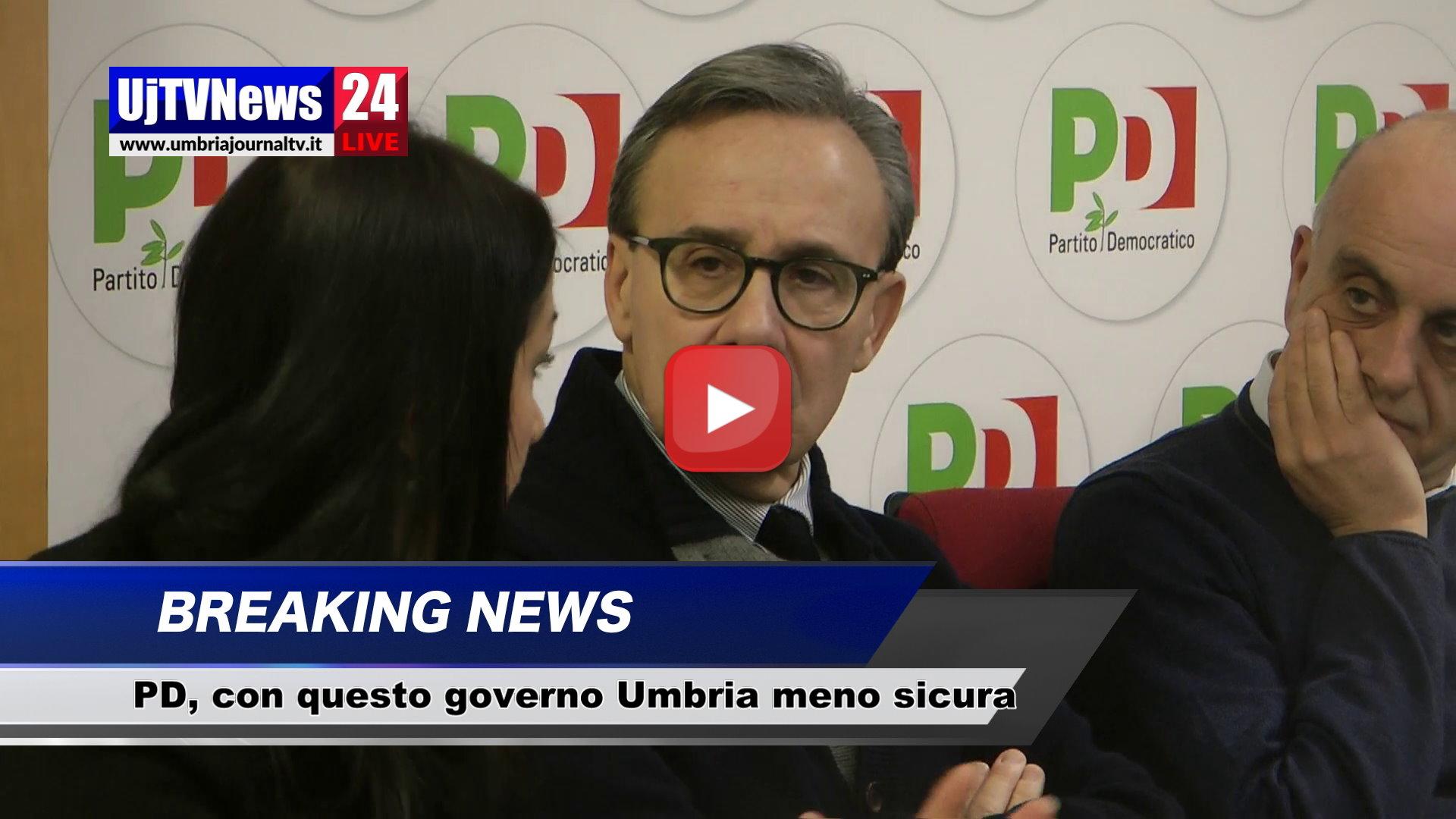 Con questo governo l'Umbria è meno sicura, lo dicono Bocci e i parlamentari Pd
