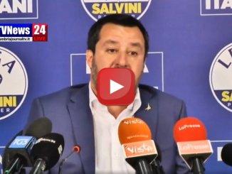 Diretta streaming, Matteo Salvini parla della vittoria della Basilicata