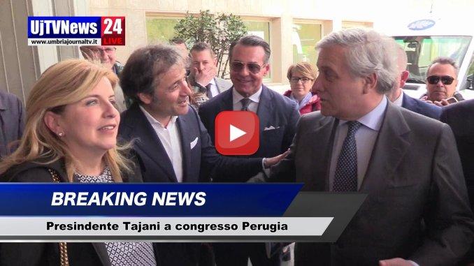 Antonio Tajani a Perugia, basta chiacchiere e promesse