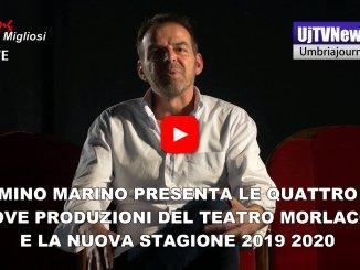 Intervista con Nino Marino, presenta 4 nuove produzioni e la stagione del teatro Morlacchi