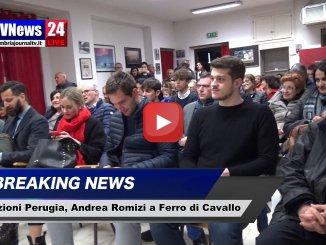 Elezioni Perugia, Andrea Romizi a Ferro di Cavallo