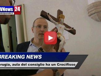 Un Crocifisso di valore nell'aula del consiglio comunale di Perugia