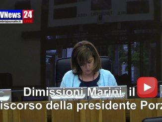 Dimissioni Marini, il discorso della presidente Porzi in aula