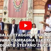 Ballottaggio Foligno, chiusura campagna elettorale Stefano Zuccarini