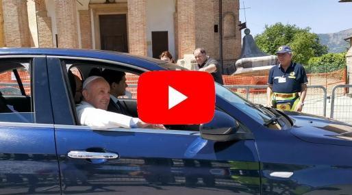 Camerino, visita di Papa Francesco ai terremotati