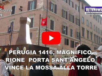 Perugia 1416, Rione Porta Sant'Angelo vince anche la Mossa alla Torre 2019