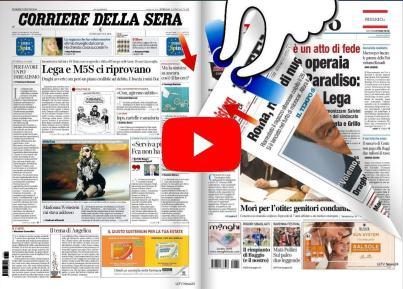 La rassegna stampa video dell'Umbria e nazionale del 7 giugno 2019 anche sfogliabile
