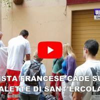 Sant'Ercolano, turista francese cade su scalette, si fa male a una gamba