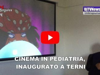 Cinema in Pediatria, inaugurata sala all'ospedale di Terni