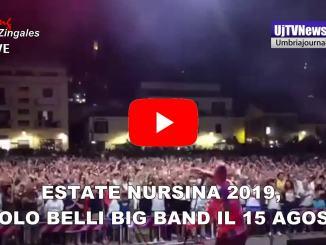 Estate Nursina 2019,Paolo Belli Big Band a Norcia, ecco il programma