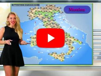 Tempo instabile, piogge e temporali diffusi, specie tra Umbria e Marche