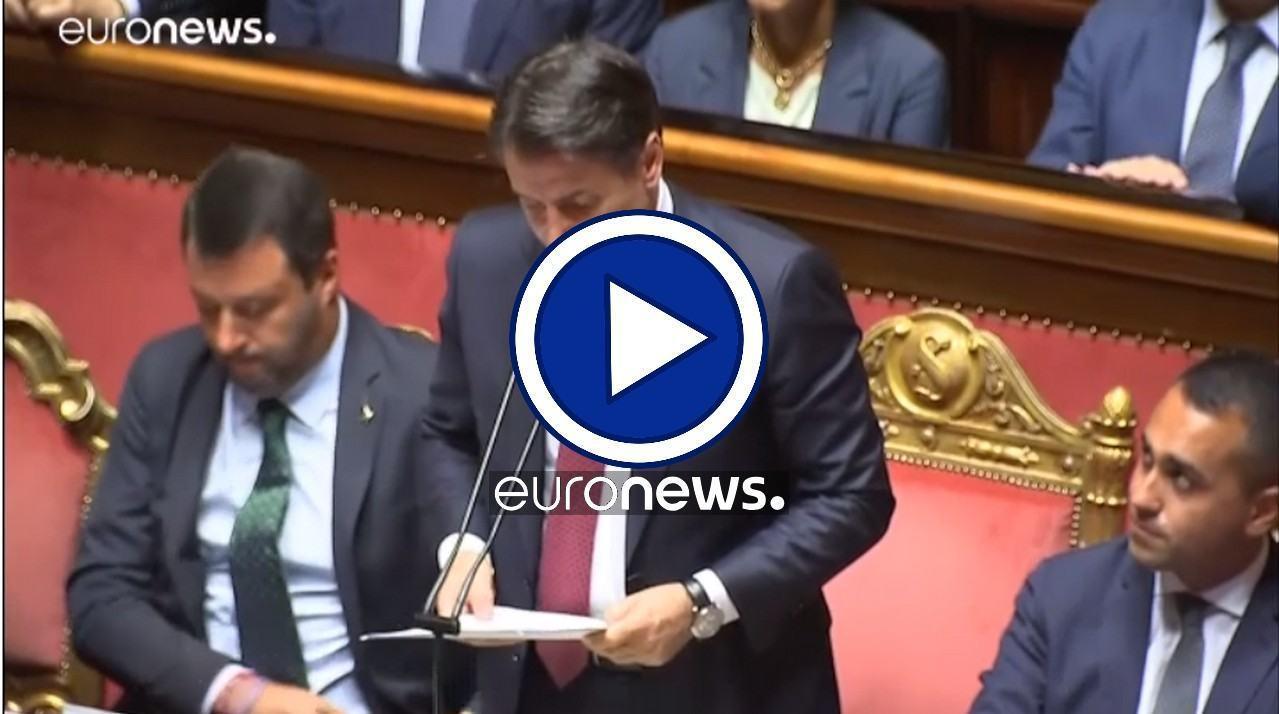 Crisi di governo italiano: botte e risposte al Senato