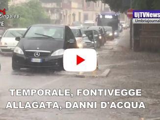 Maltempo Perugia, Fontivegge e piazza del Bacio allagate