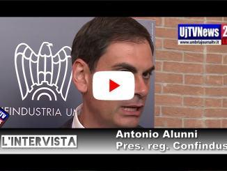 Antonio Alunni, riconfermato presidente di Confindustria Umbria, intervista