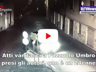 Atti vandalici in piazza del popolo a Pozzuolo Umbro