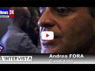 Intervista ad Andrea Fora giorno presentazione lista Bianconi Presidente