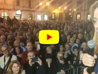 Giorgia Meloni a Terni, bene governo qui, vedrà sconfitta di domenica