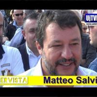 Elezioni Umbria, intervista a Matteo Salvini a Pian di Massiano
