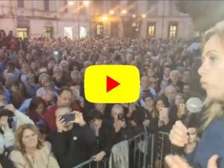 Fratelli d'Italia in piazza a Terni, Meloni: «Liberiamo l'Umbria dalla sinistra»