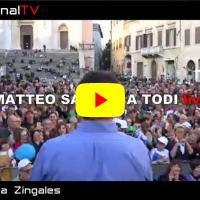 Salvini a Todi, il comizio elettorale in sostegno di Tesei, la diretta