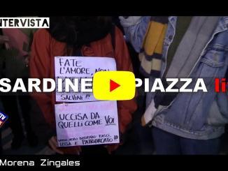 Sardine a Perugia, migliaia di persone, anche Martina e Zoe, due studentesse