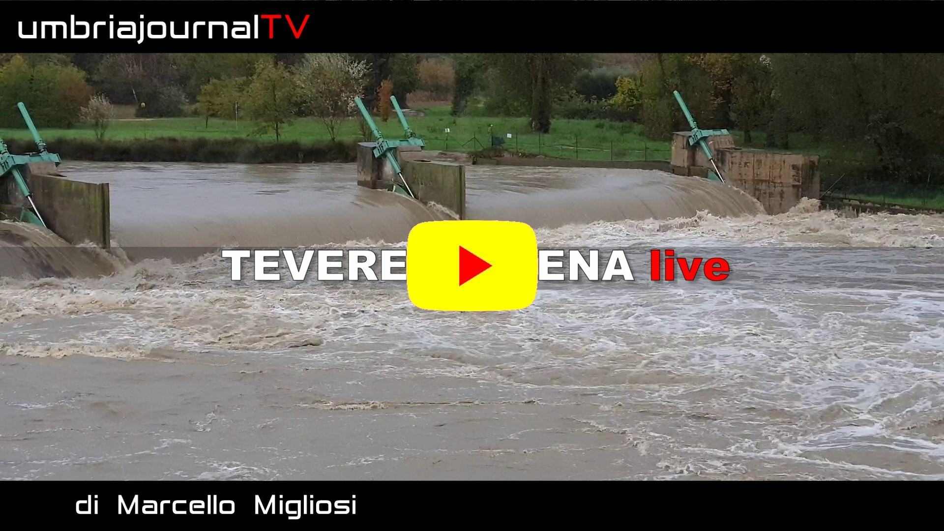 Maltempo, guarda il video del Tevere in piena al Ponte di Legno