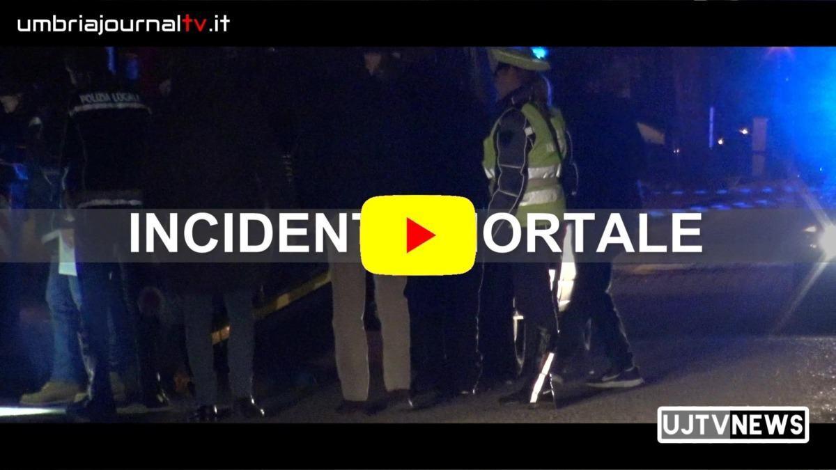 Video del luogo dell'incidente mortale Mantignana Coriciano morto anziano