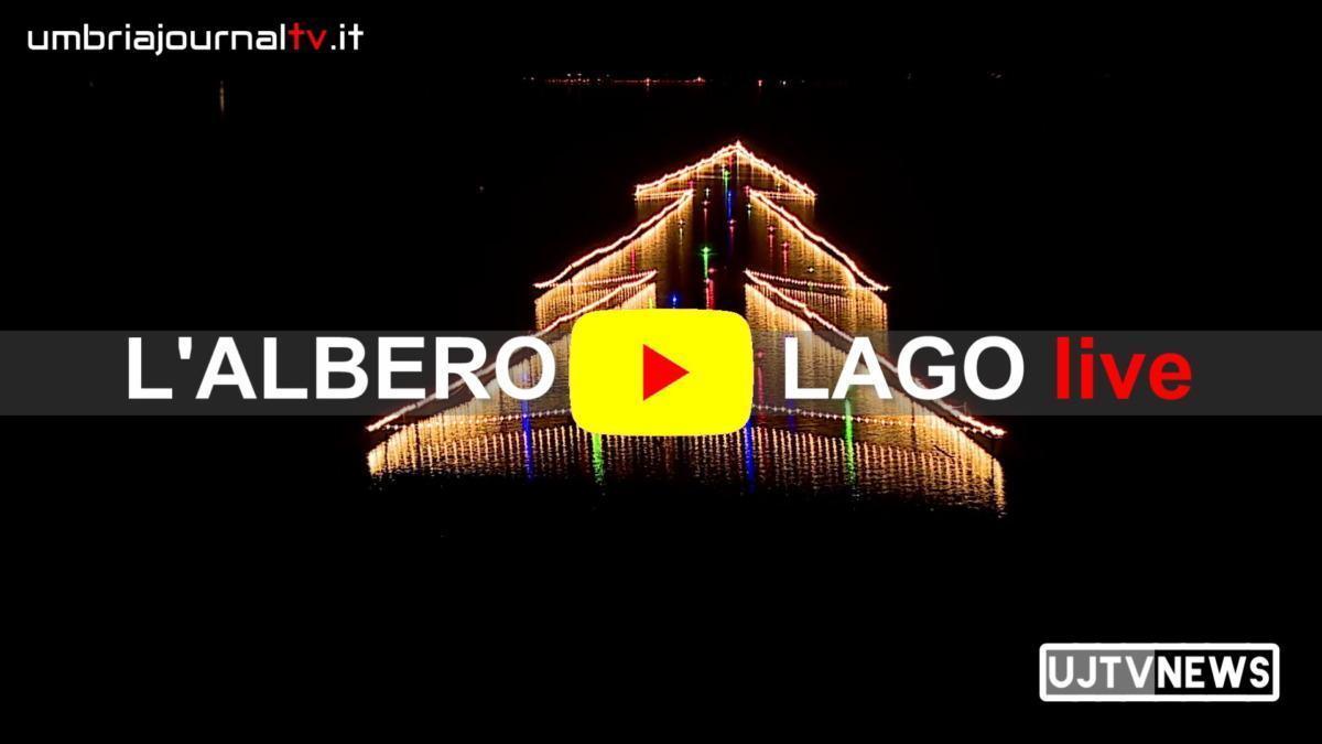 Albero di Natale più bello del mondo è sul Lago Trasimeno, immagini spettacolari