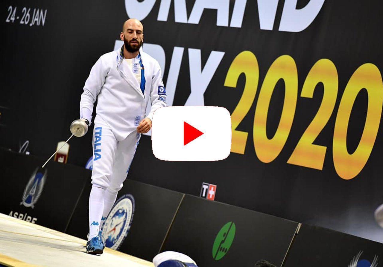 Grand Prix FIE spada maschile di Doha, terzo Andrea Santarelli, il video
