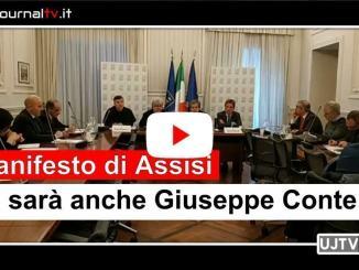 ManifestodiAssisi, Conte, Manfredi e Sassoli alla presentazione