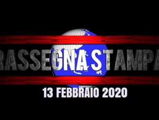 Video rassegna stampa del mattino le prime del 13 febbraio 2020, giovedì