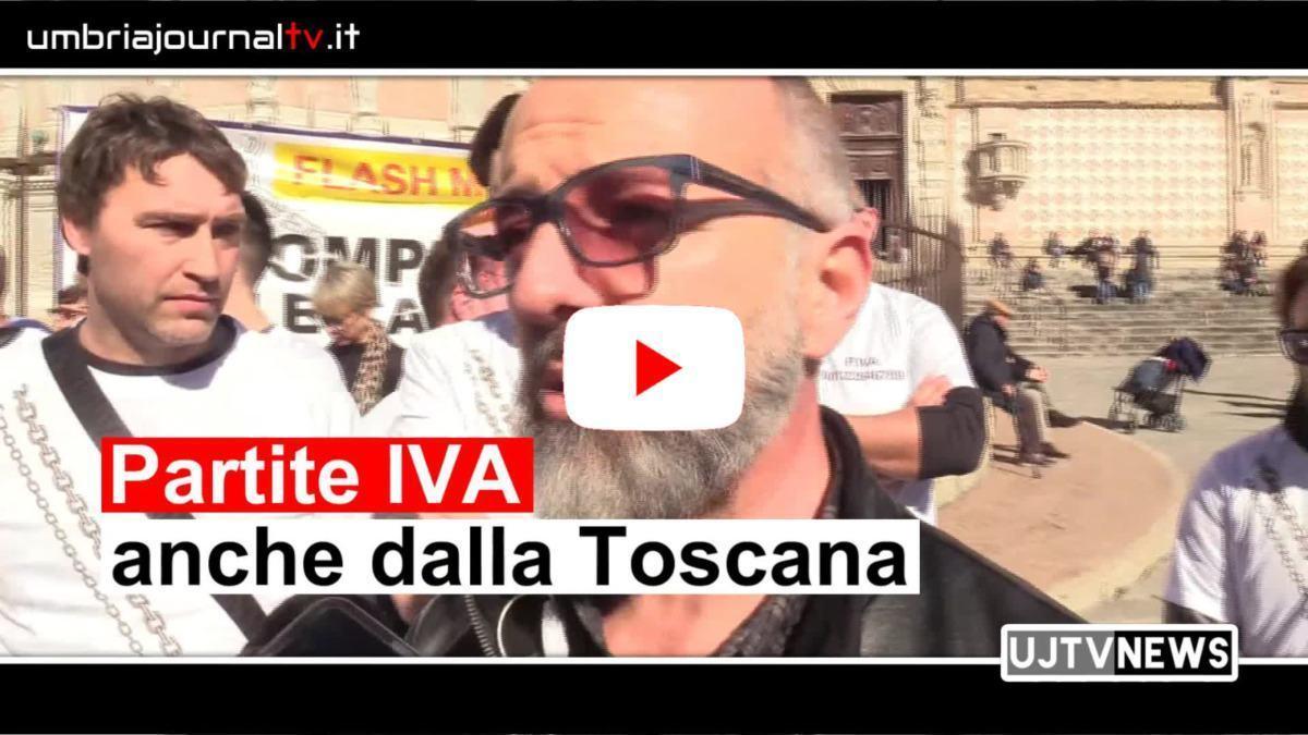 Partite IVA, sono arrivati anche dalla Toscana oggi a Perugia