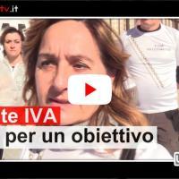 Partite IVA, manifestazione a Perugia, intervista a Francesca Fantozzi