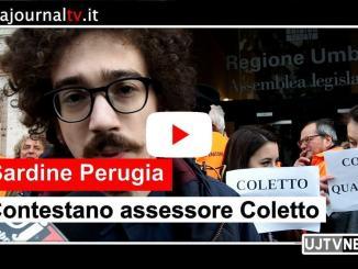 Luca Coletto contestato dalle Sardine, la nostra video intervista