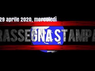 Rassegna stampa video del 29 aprile 2020, mercoledì, prime di copertina