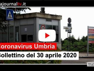 Covid19, calano a 299 gli attuali positivi in Umbria al 30 aprile 2020