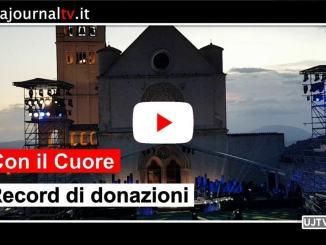 Con il cuore, concerto da Assisi record di solidarietà