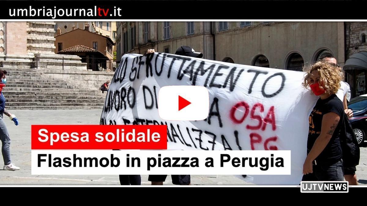 Comitato Spesa Solidale in piazza, post Covid, flash mob in piazza