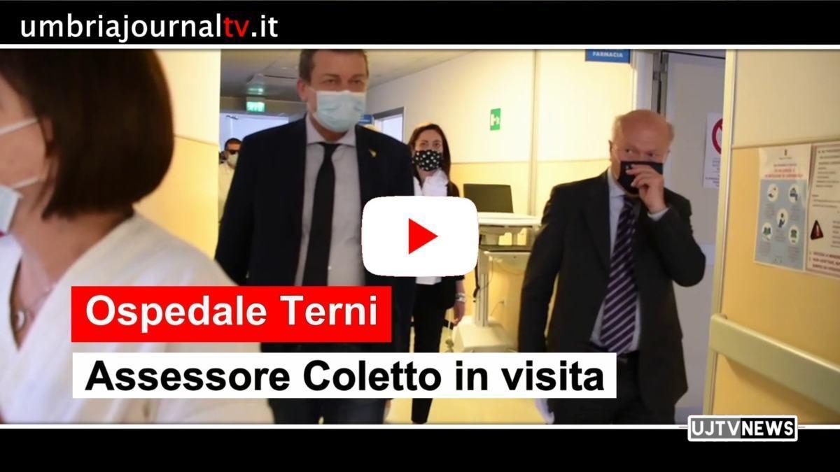 Covid-19, fase 3, assessore Coletto visita ospedale di Terni