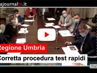 Corretta procedura test rapidi, così la presidente Tesei in conferenza